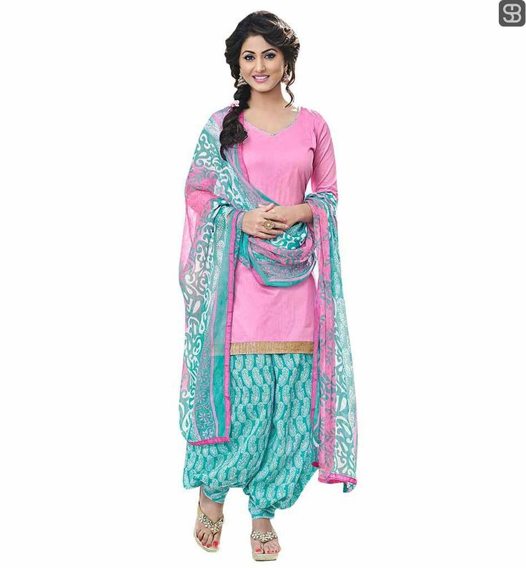 BOLLYWOOD FASHION TRENDS LATEST COLLECTION OF PUNJABI SALWAR KAMEEZ ONLINE HINA KHAN ALSO KNOWN AS AKSHARA IN PINK DRESS WITH TRENDY PATIALA SALWAR AND ODHNI #TRENDYPATIALASALWAR