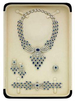 SAPPHIRE AND DIAMOND PARURE, BY ELIE CHATILA (photo Christie's)