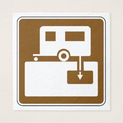 Caravan Park Sign Paper Napkins - decor gifts diy home & living cyo giftidea