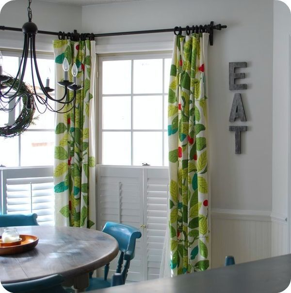 Colorful Drapes For Kitchen With Blue Chairs Stockholm Blad Curtains From IKEA May Just Ikea CurtainsDining Room