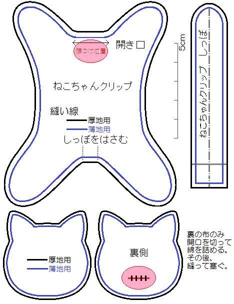 ねこちゃんクリップ型紙(厚地用・薄地用).png