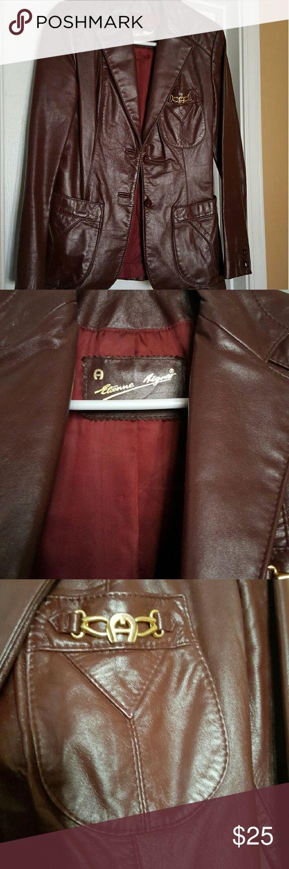 Etienne aigner black leather gloves - Etienne Aigner Vintage Etienne Aigner Leather Blazer Good Condition More Pics Upon Request Etienne Aigner