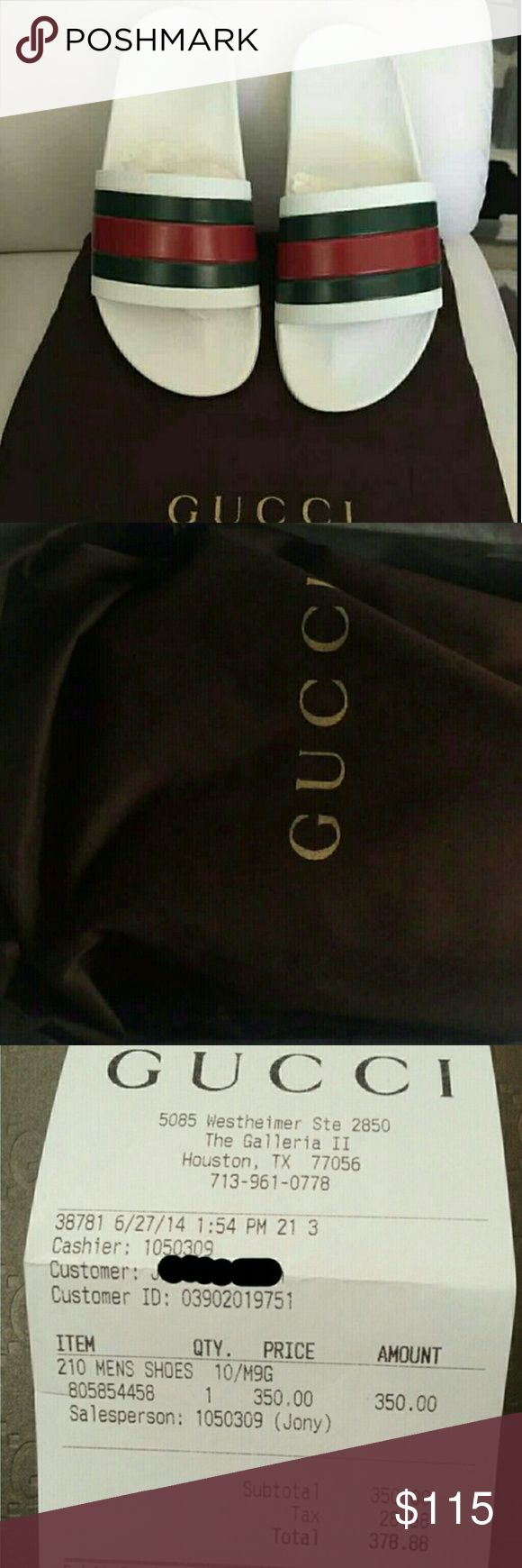 Authentic Gucci flip flops New authentic multiple sizes hmu for info, pics, and price offers (803 599 8710) Gucci Shoes Sandals & Flip-Flops