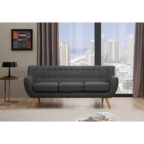 Sixties 3 Seater Sofa - Dark Grey