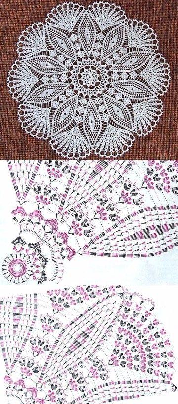 carpetas tejidas al crochet faciles