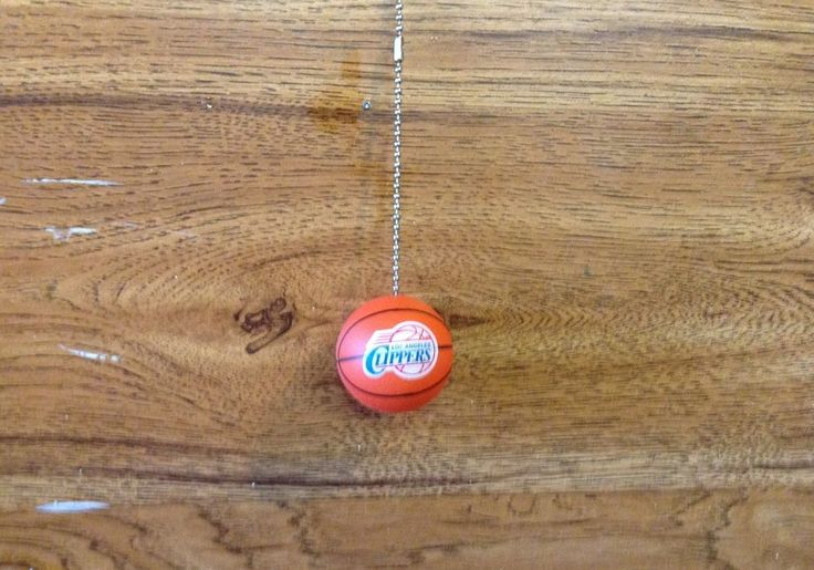 Los Angeles Clippers Handmade Basketball Ceiling Fan/Light and Pull Chain. #LosAngelesClippers