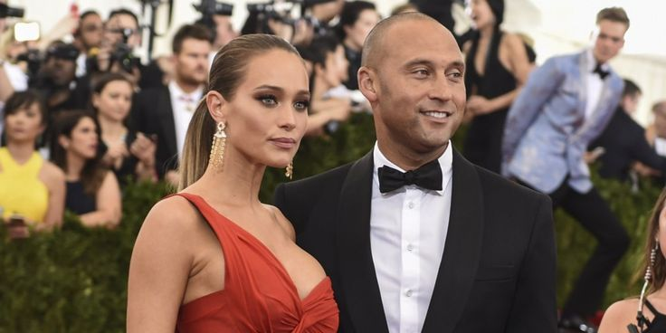 derek jeter and hannah davis | Derek Jeter and Hannah Davis arrive at the Costume Institute Gala ...