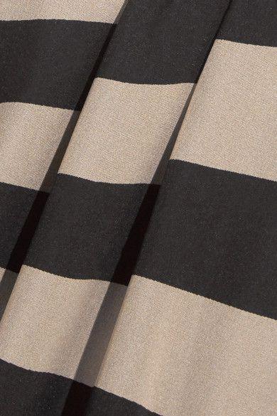 Gareth Pugh - Striped Silk-blend Chiffon Wrap Top - Neutral - IT46