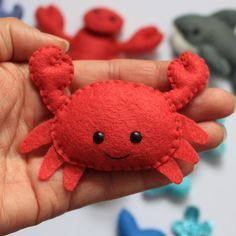 Sea Creatures felt softies pdf pattern sew sweet by sewsweetuk