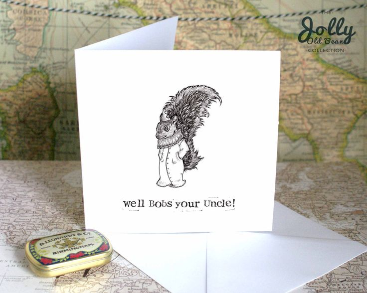 Well Done Card, Congratulations Cards, Funny Card, Bobs your Uncle, Pregnancy Card, Funny New Job Card, Achievement Card, Hipster Card, CJ8 by BEEcardsUK on Etsy