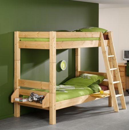 Massief houten #stapelbed die zeker geschikt is voor een kinderkamer in #jungle thema!