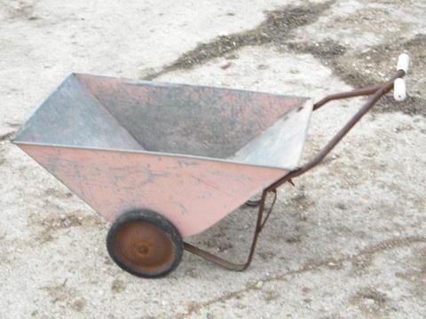 Pink Garden Cart Vintage