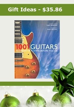 Order this GREAT Christmas gift for only $35.86---- Now is the time to make your Bucket List - of all the guitars you dream of playing before you die. To help you build your list, check out the amazing 1001 guitars featured in this book. All you favorite brands are here including: Fender, Gibson, Martin, Gretsch, Rickenbacker, Ibanez, Yamaha, Teisco ... and more.