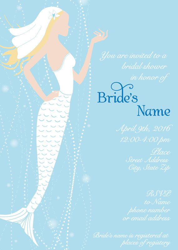 Mermaid or Nautical Bridal Shower by 4evernalways. Explore more products on http://4evernalways.etsy.com