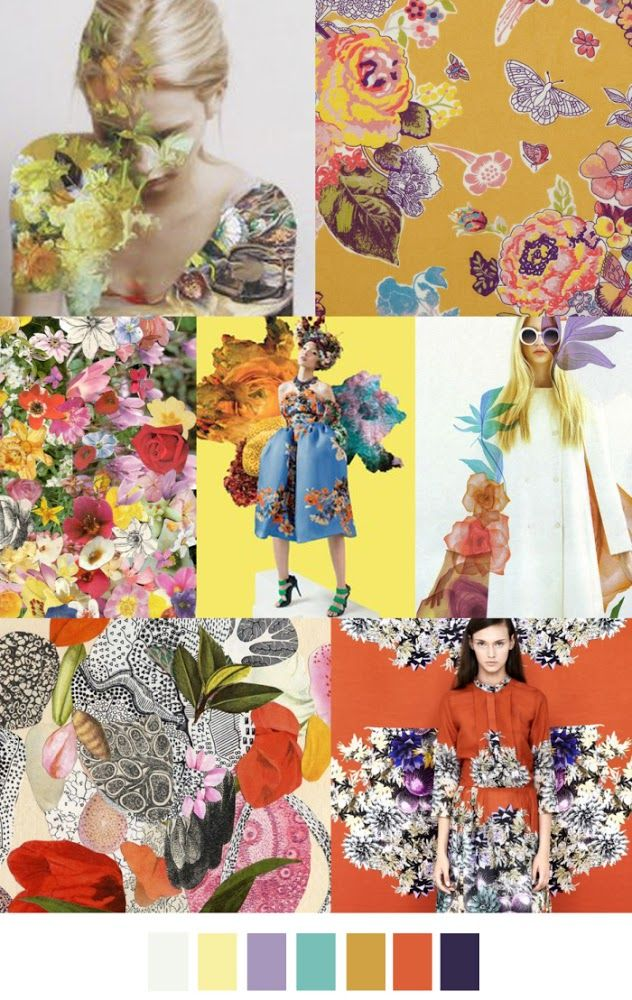 FASHION VIGNETTE: TRENDS // PATTERN CURATOR - PRINT INSPIRATIONS SS 2016 floral collage
