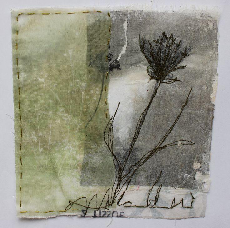 Cas Holmes handkerchief. Lea Valley Walthamstow Weeds.