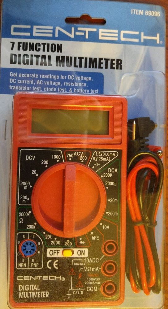 Cen Tech Digital Clamp Meter : Best images about multimeter on pinterest circuit