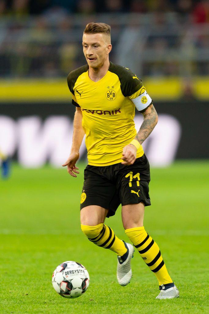 Marco Reus Of Dortmund Controls The Ball During The Bundesliga Match Borussia Dortmund Bundesliga Bvb Dortmund