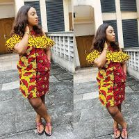 Short Ankara Gown Styles : Check Out This Simple Styles