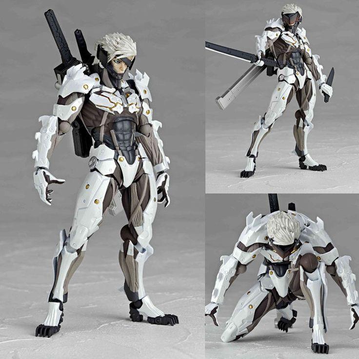 Revoltech 140EX Raiden White Ver Metal Gear Solid Rising Anime Figure Kaiyodo JP