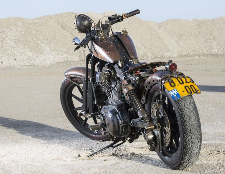 Rusted HD sportster 1200 custom build from Israel