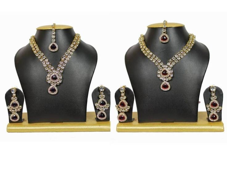Indian Most Beautiful Bollywood Style Gold Plated Kundan Party Wear Jewellry Set #Uniquegemstone17