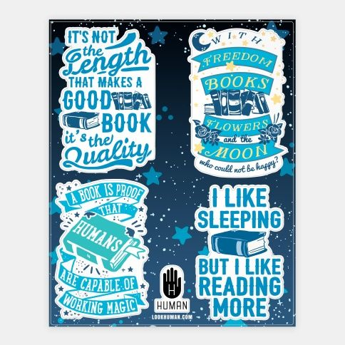 Magical book stickers stickers sticker sheets and vinyl stickers human