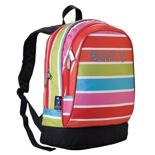 Personalized Bright Stripes Sidekick Backpack by Wildkin