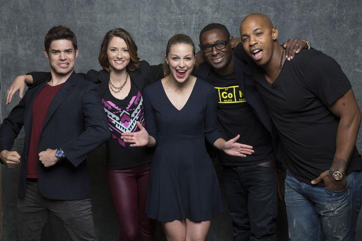 "'Supergirl'  The cast of ""Supergirl"": Jeremy Jordan, left, Chyler Leigh, Melissa Benoist, David Horewood and Mehcad Brooks  http://www.latimes.com/entertainment/herocomplex/la-et-hc-comic-con-2015-photobooth-20150709-042-photo.html"
