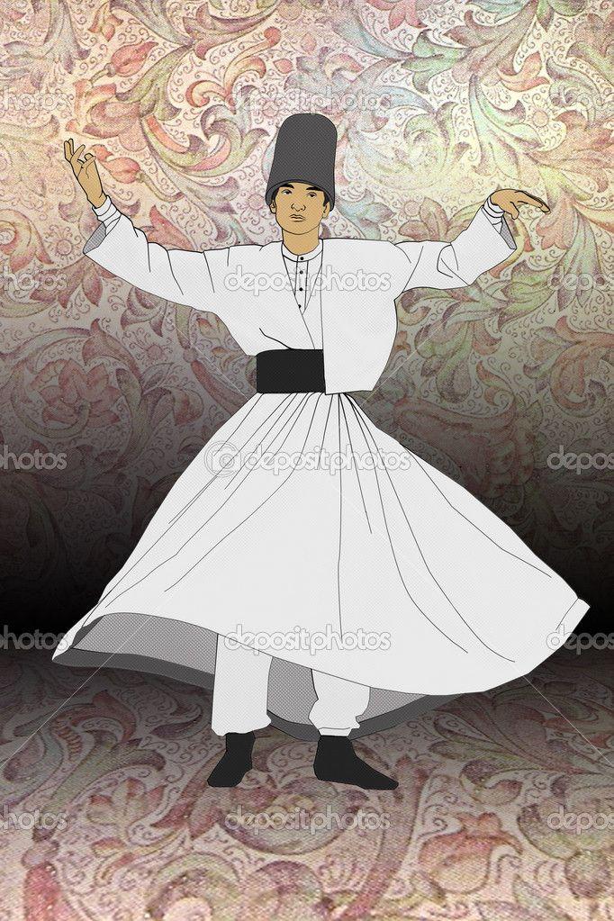 Mevlevi Sufi Whirling Dervishes Dancing