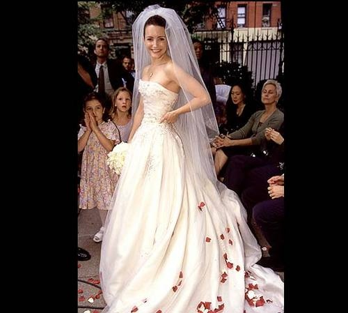 Kristin Davis aka Charlotte York Goldenblatt from Sex and the City's wedding dress.