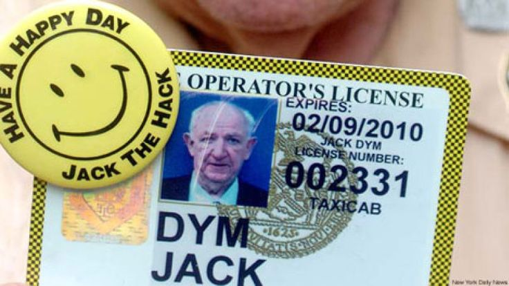 "After 62 years and 2 million miles on New York streets, 82-year-old ""Jack the Hack"" Dym has parked his cab for the last time. Fresh out of the U.S. Army, he began driving a cab in 1947, following his father and three brothers into the business. It was an era of hulking DeSoto, Packard and Checker cabs, a lush Manhattan street life, and cheap gas. His own cab, a Packard, became his entrée to p"