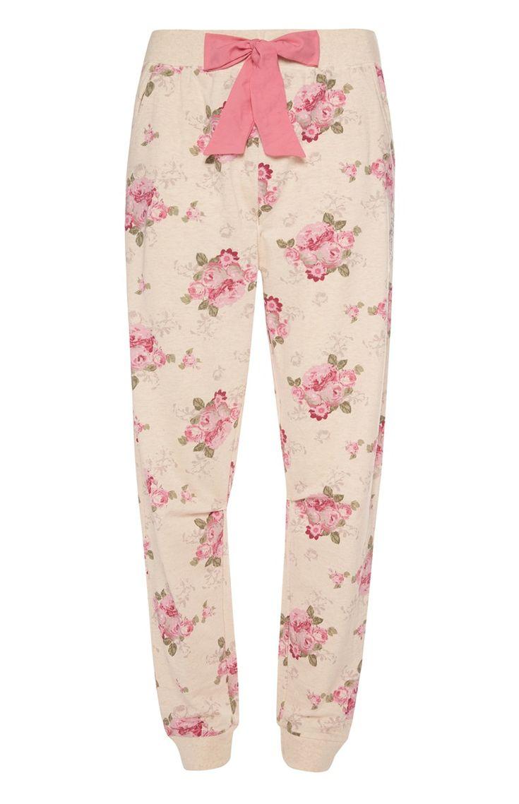 Primark - Roomkleurige pyjamalegging met bloemen