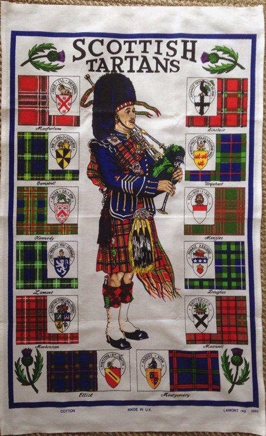 Scottish Tartans Tea Towel