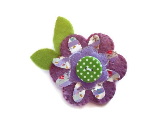Ladies Flower Brooch.  Womens Accessory. Mothers by Fabrilushus, £6.00