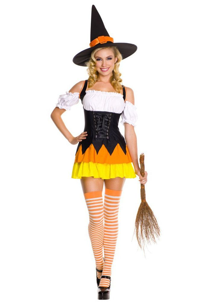 Chic Womens Halloween Candy Corn Witch Costume Witch Costumes Worldwide Freeu2026  sc 1 st  Pinterest & 37 best Future Costumes images on Pinterest | Halloween ideas ...