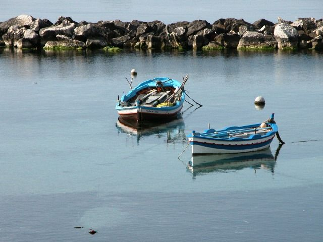 Typical Sicilain fisher's boats