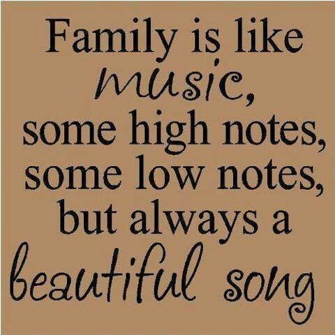 Music- family is like music, some high notes, some low notes, but always a beautiful song. Description from pinterest.com. I searched for this on bing.com/images