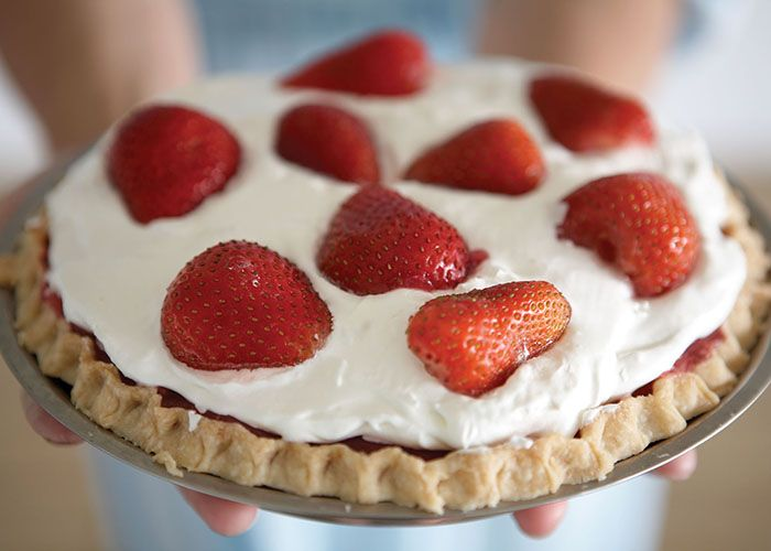 Strawberry Pie — An american classic red & white treat for ...