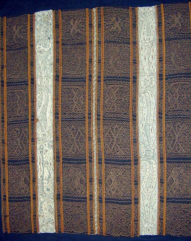 X  Paminggir  Indonesia, Sumatra, Lampung  Woman's Ceremonial Cloth (Tapis), 19th century. 132.1 x 117.5 cm (52 x 46.25 in.)