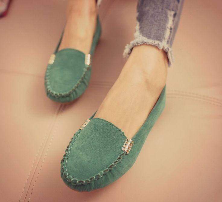 ♥ ♡ Mocasines Color: verde menta