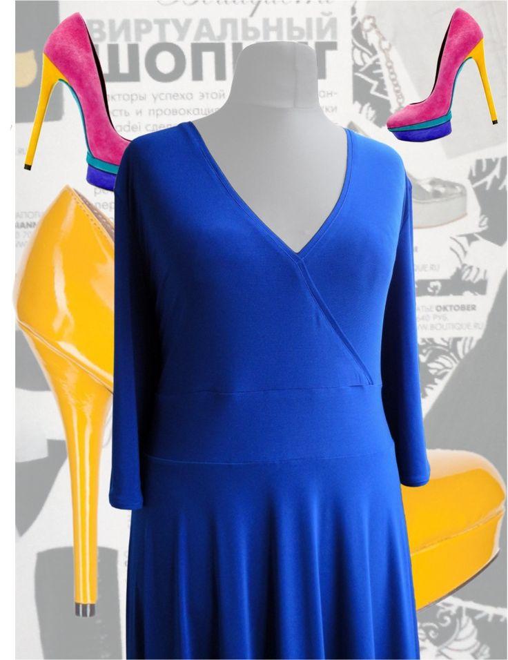 41$ Платье в пол модного цвета: синий электрик с V-образной зоной декольте Артикул 418, р50-64 Платья больших размеров  Платья в пол больших размеров  Летние платья больших размеров Платья макси больших размеров  Длинные платья больших размеров  Платья нарядные больших размеров  Дизайнерские платья больших размеров Красивые платья больших размеров  Модные платья больших размеров  Стильные платья больших размеров