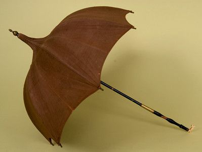 Brown Pagoda Parasol, Mid 19th C.: Mid 19Th, Antiques Parasols, Historical Clothing, 19Th Century, Pagoda Parasols, Brown Pagoda, Whitak Auction, Historical Vintage, Vintage Clothing