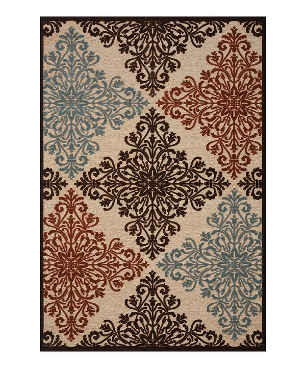 This Beige Tattoo Medallion Rug By Concord Global Trading