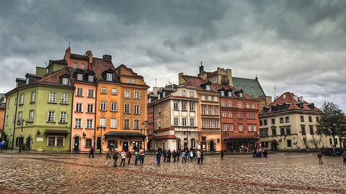 """A gloomy sky over the """"Castle Square"""", found in the """"Stare Miasto"""" area of Warsaw, Poland. Obtain a print/poster at http://www.redbubble.com/people/pixog/works/10769671"""