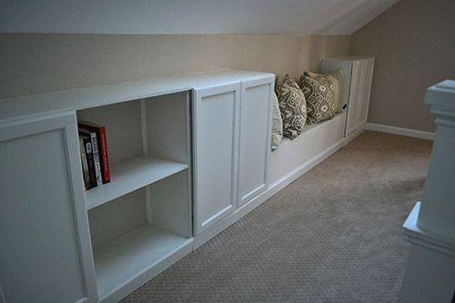 Adding Built In Bookcase To Knee Wall For Extra Storage In