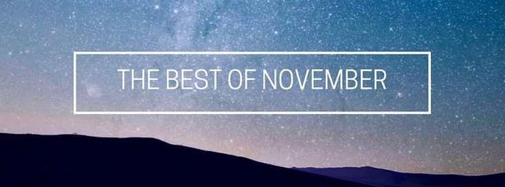 The Best Of November 2014 - playlist with great music!