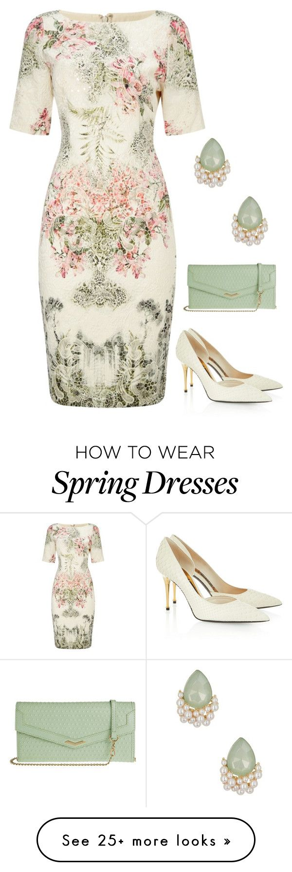 """""""Spring Floral"""" by dazzling-dazed-dayz on Polyvore featuring Adrianna Papell, Tom Ford, Lodis and Natasha Accessories"""