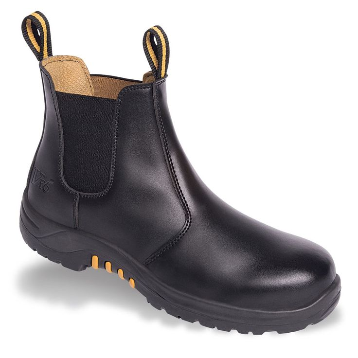 V12 Colt VR609 Black Leather Safety Dealer Boots