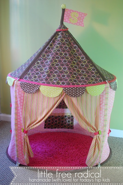 How to turn an Ikea play tent into something much much cuter :)